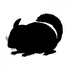 Chinchilla silhouette vector