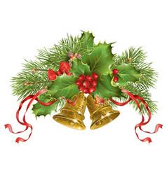 Christmas bells banner vector