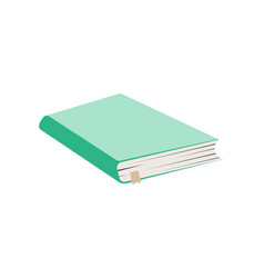 close school notebook icon in flat style vector image