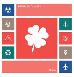 clover with four leaves elements for your design vector image