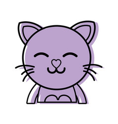 Color sleeping cat adorable feline animal vector