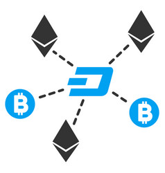 cryptocurrency relations flat icon vector image