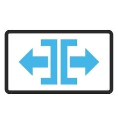 Divide Horizontal Direction Framed Icon vector