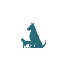 dog and cat logo design inspiration vector image