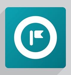 flat flag icon vector image