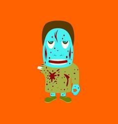 Flat on background of zombie men vector