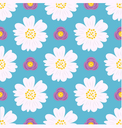 floral seamless pattern flat design for use as vector image