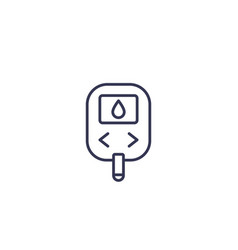 glucose monitor glucometer line icon vector image