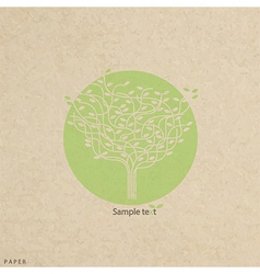 grunge paper texture stylized tree and icon vector image