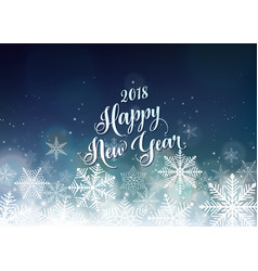 happy new year 2018 banner seasons greetings card vector image
