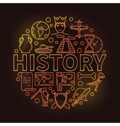 History colorful linear vector
