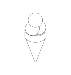 Ice cream cone icon isometric 3d vector