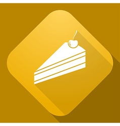 icon of Pie with a long shadow vector image