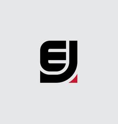 j and e - initials or logo je - monogram vector image