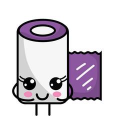 Kawaii cute happy gauze medical tool vector