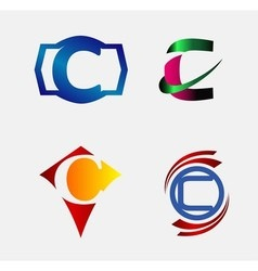 Letter C logo design sample vector image
