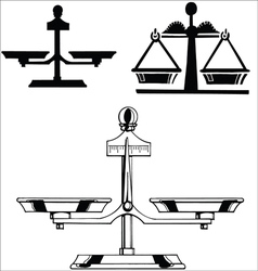 Libra silhouettes vector