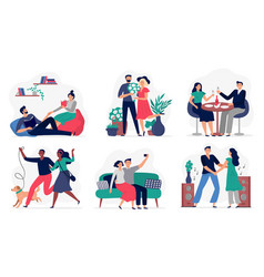 lovers spend time together couples in love happy vector image