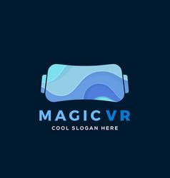 magic virtual reality abstract vector image