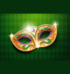 mask with diamonds for carnival masquerade vector image