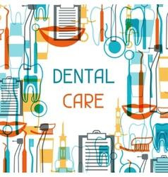 Medical background design with dental equipment vector