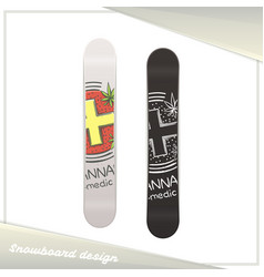 Medical marijuana snowboard six vector