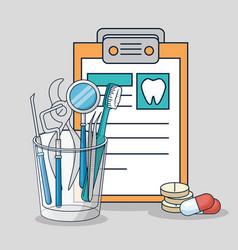 Medicine diagnosis and dental treatment equipment vector