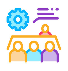 Meeting training icon outline vector