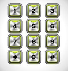 Metal keypad vector
