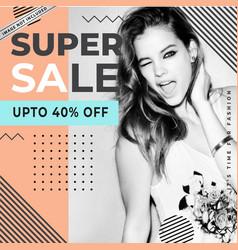 Modern sale banner template vector