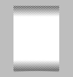 monochrome halftone pattern brochure design vector image