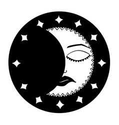 month black and white vector image