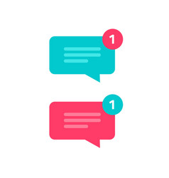 new chat text message notice icon vector image