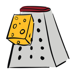 New cheese grater or color vector
