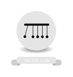 Newton cradle icon vector