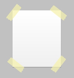 notice paper vector image