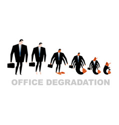 office degradation manager turns into office vector image