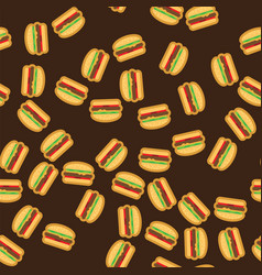 pattern delicious burgers with juicy meat vector image