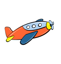 plane toy icon cartoon style vector image