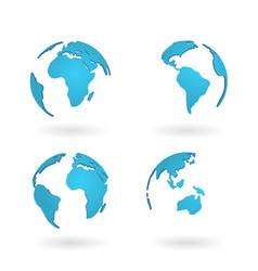 planet globe world earth map modern concept blue vector image