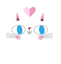 portrait funny cat in love vector image
