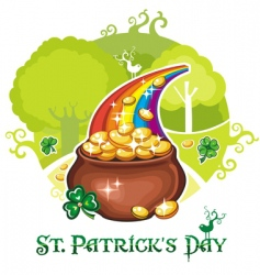 pot of gold vector image
