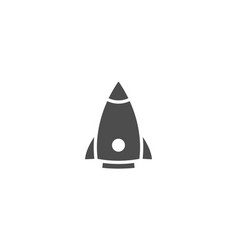 rocket flat icon isolated on white background vector image