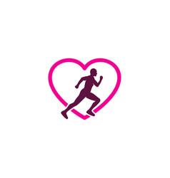 romance run logo icon design vector image