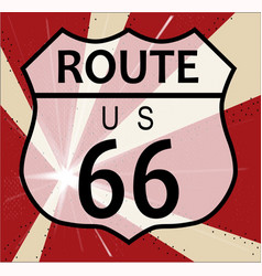 Route 66 splash vector