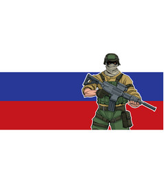 russian soldier background vector image