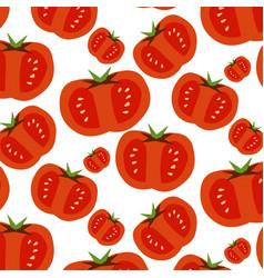 seamless pattern of slised tomatoes vector image