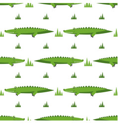 seamless pattern with crocodiles vector image