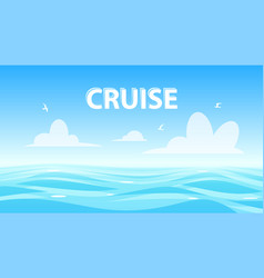 seascape with copyspace banner for cruise vector image