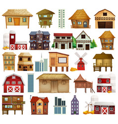 Set different houses vector